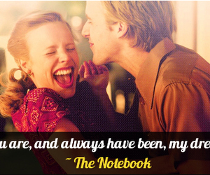 movie, the notebook, and love image