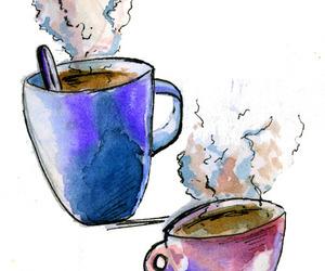 coffee, tea, and drawing image