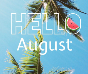 August, dreamer, and palm trees image