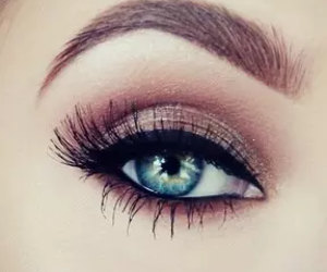eye, blue, and makeup image