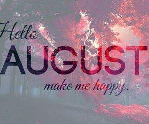 August, summer, and happy image