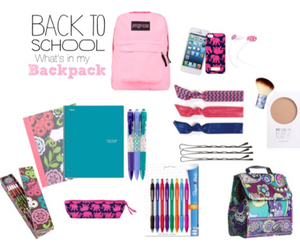 supplies, back to school, and what's in my backpack image
