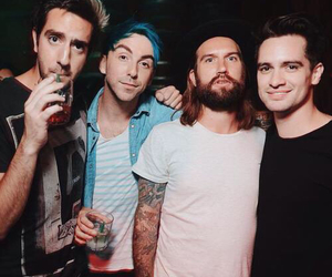 panic! at the disco, alex gaskarth, and brendon urie image