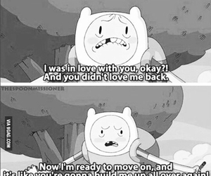 black and white, sad, and adventure time image