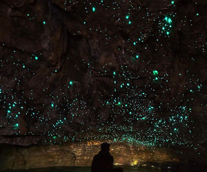 light, stars, and cave image