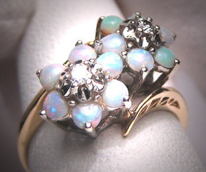 opal and engagement ring image
