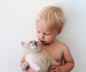 love, baby, and cat image