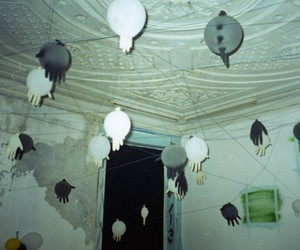 analog, balloons, and fingers image