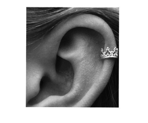black and white, crown, and ear image