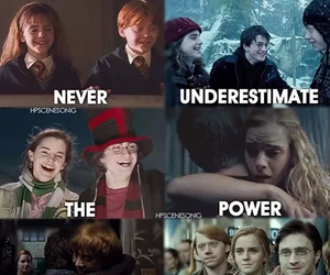 harry potter, friendship, and hermione granger image