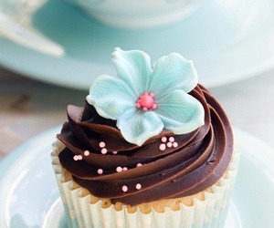cupcake, cake, and blue image