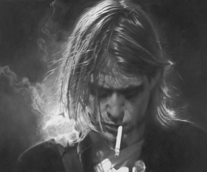 kurt cobain, nirvana, and smoke image