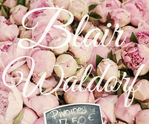 blair waldorf, gossip girl, and peonies image