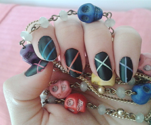 colored, colors, and nail art image