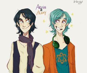 armin, gemelos, and alexy image