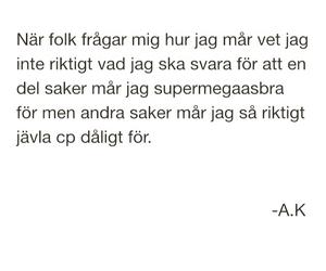 swedish quotes, svenska citat, and mår dåligt image
