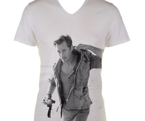 alexander skarsgard, b&w, and shirt image