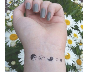 tattoo, flowers, and nails image