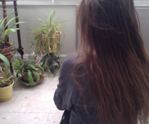 girl, pale, and plants image