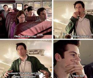 teen wolf, stiles stilinski, and bus image