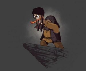 harry potter, hagrid, and the lion king image