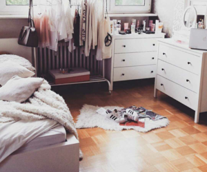 bedroom, room, and girls image