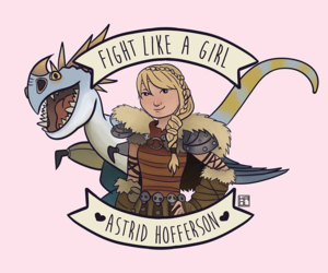fight like a girl, astrid hofferson, and feminism image
