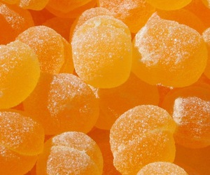 candy, orange, and wallpaper image