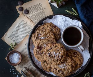 Cookies, food, and book image