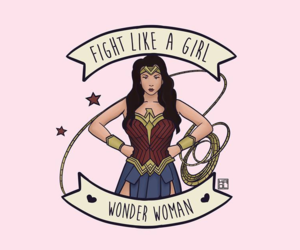wonder woman, feminism, and girl power image