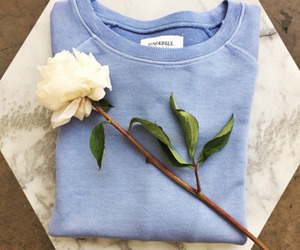 blue, fashion, and flower image