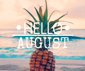 August, summer, and hello image