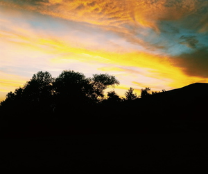 camping, sunset, and summernights image