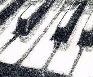 art, music, and piano image