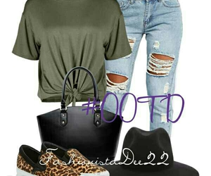 fashion, Polyvore, and ripped jeans image