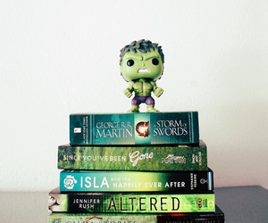books, green, and reading image