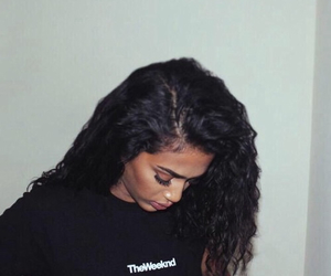 girl, the weeknd, and black image