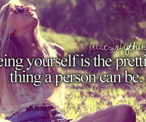be yourself, girly, and pretty image