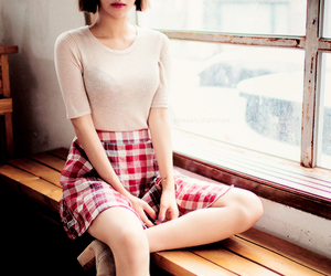 asian fashion, plaid, and l'outfit image