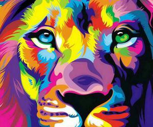 lion, brave, and color image