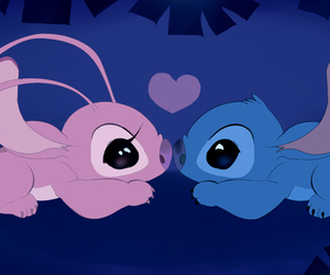 love, stitch, and disney image