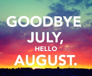 August, summer, and words image
