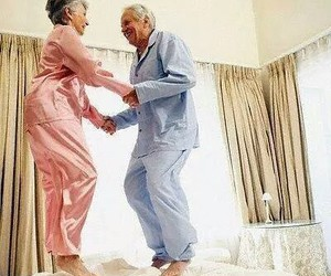 couple, happy, and old image