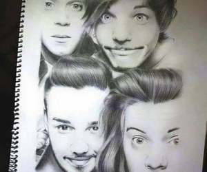 one direction, drawing, and fanart image