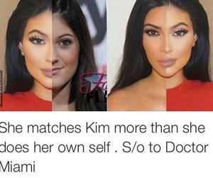 kim kardashian, kylie jenner, and kim image