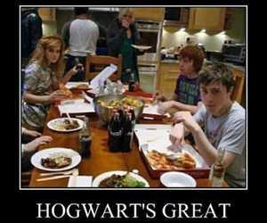 daniel radcliffe, hogwarts, and ron weasley image