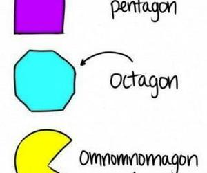 funny, pacman, and pentagon image