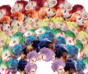5sos, michael clifford, and rainbow image