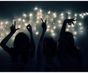 love, girl, and light image