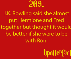 fact, harry potter, and Fred image